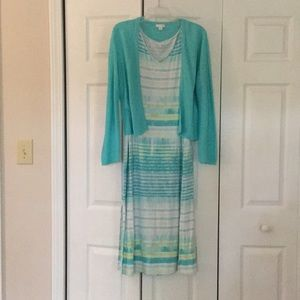 J.Jill summer dress cardigan set